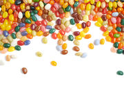 Multiple jelly beans isolated Royalty Free Stock Images
