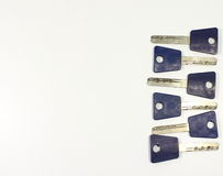 Multiple keys. Keys are composed in line Royalty Free Stock Photos
