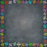 Multiple kite border on chalkboard Royalty Free Stock Images