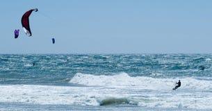 Multiple Kiteboarders Stock Photos