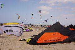Multiple kites at dutch Stock Photography