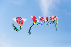 Multiple kites with faces Royalty Free Stock Image