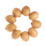 Multiple kiwifruits aligned in circle Stock Photo