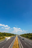 Multiple lane highway in The Netherlands Royalty Free Stock Photo