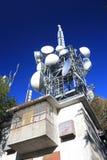 Multiple large antennas Royalty Free Stock Photos