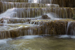 Multiple layer waterfall in tropical rain forest national park Royalty Free Stock Photo