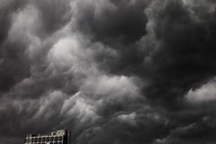 Storm Clouds. Multiple layers of ominous storm clouds stock photography