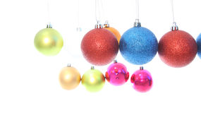 Multiple level hanging Christmas ball Stock Image