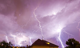 Multiple lightnings Royalty Free Stock Photography