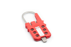 Multiple Lockout Hasp on isolated background Royalty Free Stock Photos
