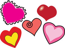 Multiple Love Shapes Royalty Free Stock Images