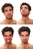 Multiple male expressions Stock Images