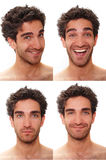 Multiple male expressions Royalty Free Stock Images