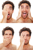 Multiple Male Expressions Royalty Free Stock Photo
