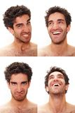 Multiple male expressions Stock Image