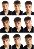 Multiple man face expression. Stock Photo
