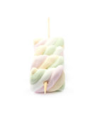 Multiple marshmallows on a stick Stock Photography