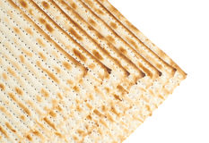 Multiple matza flatbreads lying one over another Stock Photos