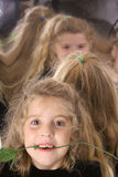 Multiple mirrored children Royalty Free Stock Photography