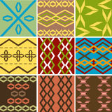 Multiple models colored ethnic texture. Nine models colored ethnic texture stock illustration