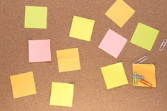Multiple multi-coloured post it notes Stock Images