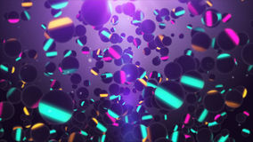 Multiple multicolored spheres flying in the air Royalty Free Stock Photos