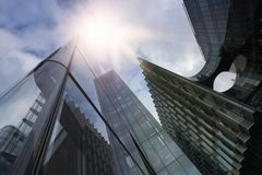 Multiple office towers Stock Image