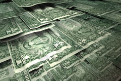Multiple one dollar bills Royalty Free Stock Images