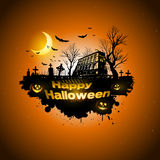 Multiple orange Halloween banners and backgrounds Stock Photography