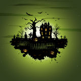 Multiple orange Halloween banners and backgrounds Royalty Free Stock Images