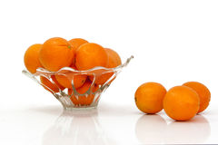 Multiple oranges against a white background. The fruit of the orange tree arranged on a white background Stock Photo