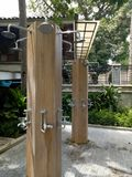 Multiple Outdoor Showers Royalty Free Stock Photos