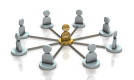 Multiple partners will cooperate with the leader. Stock Images