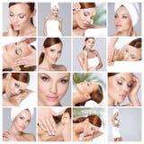 Multiple photos of beautiful girl Stock Photo