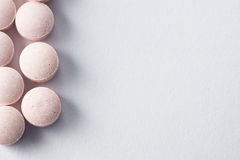 Multiple pills depicting medical treatment or pahrmaceutical ind. Ustry. High resolution image royalty free stock photos