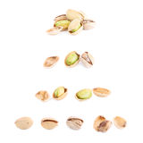 Multiple pistachio compositions isolated Royalty Free Stock Photo