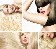 Multiple portrait of a fashionable lady royalty free stock images