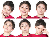 Multiple portraits of young boy royalty free stock photo