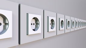 Multiple power outlets. 3D rendering Stock Photography