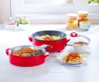 Multiple purpose steam pot and pan Stock Photos