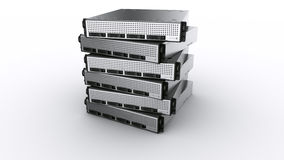 Multiple rack servers Stock Image