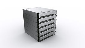 Multiple Rack servers Royalty Free Stock Photo