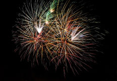 Multiple real fireworks. Photo of multiple real fireworks on long exposure Royalty Free Stock Photo