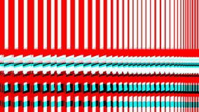 Multiple red and blue computer windows or lines, 3d colors screen vector illustration