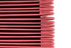 Multiple red folder Stock Photos