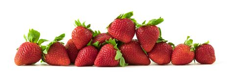 Red strawberries  on white background Royalty Free Stock Photography