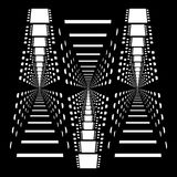 Multiple repeating shapes of abstract vector black and white film stripes Royalty Free Stock Photo