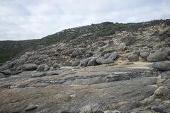 Multiple rocks at Blowholes sight in Torndirrup National Park near Albany Royalty Free Stock Images