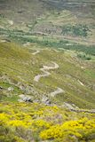 Multiple s road at Gredos mountains Stock Image