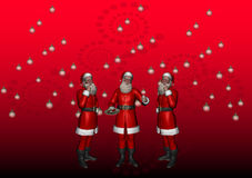 Multiple Santa 4 Stock Photography